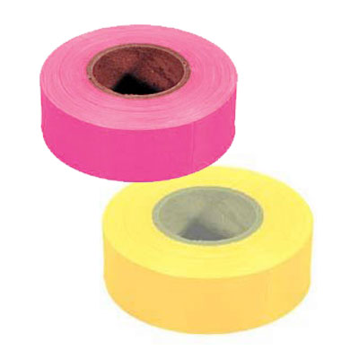 "TAPE FLAGGING FLUORESCENT 1-3/16"" X 150'"