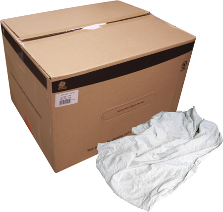 RAGS T-SHIRT 50LB BOX WHITE  (SOLD BY BOX ONLY)