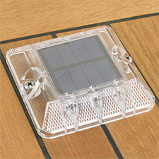 "DOCK LIGHT LED SOLAR 2 PACK WHITE 4"" X 4"""