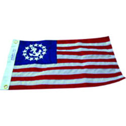 "FLAG YACHT ENSIGN 16""X24"" NYLON"