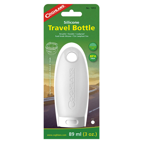 SILICONE TRAVEL BOTTLE CLEAR 3 OZ