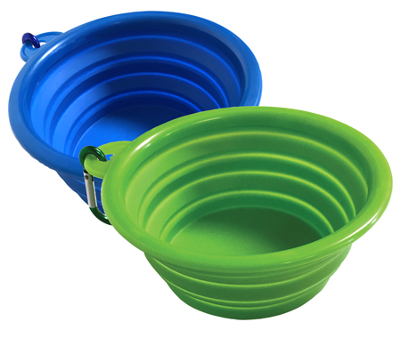 POP UP SILICONE PET BOWL ASSORTED COLORS