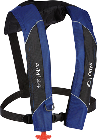 LIFEVEST INFLATABLE ONYX AUTO/MAN BLUE USCG APPROV