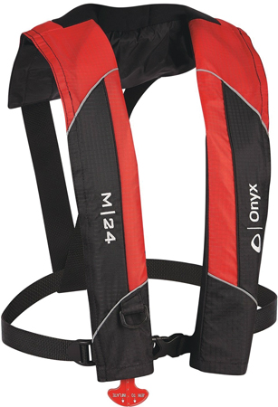 LIFEVEST INFLATABLE ONYX MANUAL RED USCG APPROVED