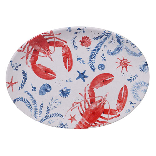 "NAUTICAL LIFE PLATTER OVAL 16""X12"""