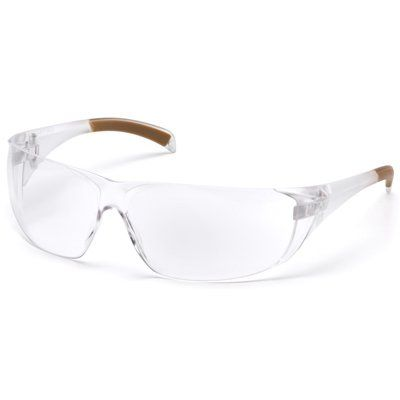 SAFETY GLASSES CLEAR WITH CLEAR TEMPLES