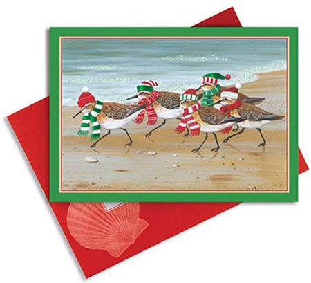 CHRISTMAS CARDS SANDPIPERS 16 COUNT WITH ENVELOPES