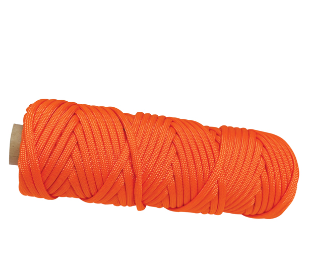 550 PARACORD ORANGE POLYESTER 100'