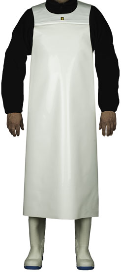 GUY COTTEN WHITE COMFORT APRON 300 MICRONS POLYURETHANE WELDED SEAMS