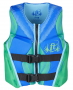 ONYX FULL THROTTLE LIFEVEST RAPID-DRY YOUTH GREEN, 50-90 LBS FLEX BACK