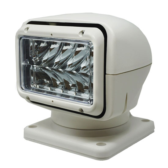 SEARCHLIGHT LED WHITE, 12/24 VOLT, Wireless Handheld Remote and Wired Dash