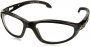 EDGE SAFETY EYEWEAR SW111VS DAKURA SAFETY GLASSES BLACK FRAME/CLEAR LENS.