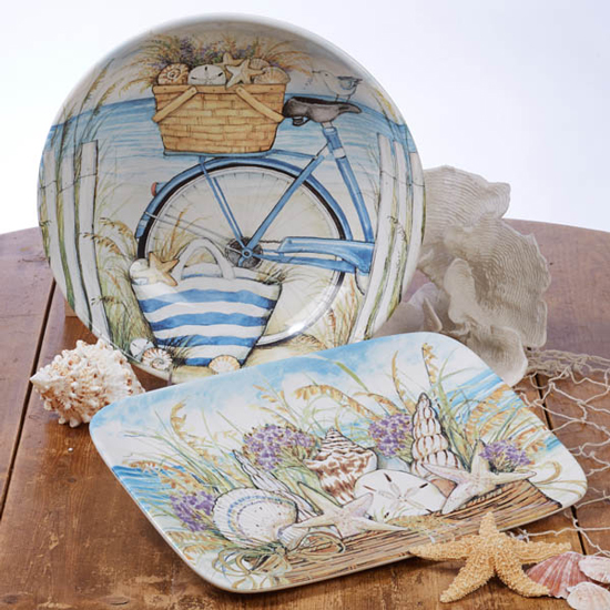 "BY THE SEA PLATTER OVAL 16""X12"""