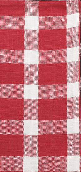 TAVERN CHECK PLACEMAT RED