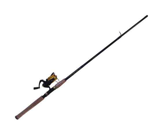 "ROD & REEL SPIN COMBO 6'6"" 2PC, RODDY HUNTER W/ LINE"