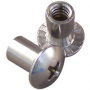"BARREL NUT 10-24 X 3/8"" STAINLESS STEEL (100/BAG)"