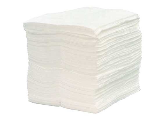 "OIL ABSORBENT PAD TEARABLE MEDIUM 15""X18"" WHITE (BALE/100)"