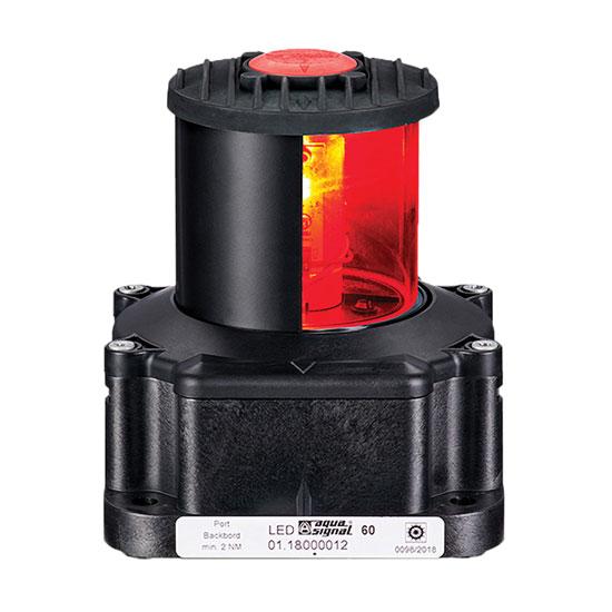 SERIES 60 RED LED PORT 24V NAVIGATION LIGHT BLACK HOUSING