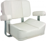 SPRINGFIELD 1040002 DELUXE CAPTAINS CHAIR (SEAT ONLY) WHITE *NS*