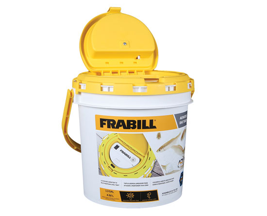 FRABILL INSULATED BUCKET 1.3 GAL W/ AERATOR BUILT-IN (TWO D BATTERIES)