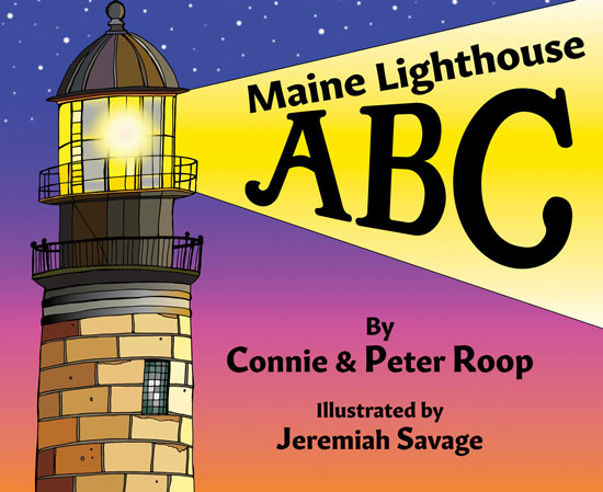 BOOK MAINE LIGHTHOUSE ABC BY CONNIE & PETER ROOP