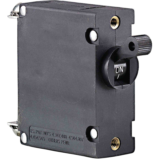 CIRCUIT BREAKER 25 AMP*NS SINGLE POLE AC/DC BLACK