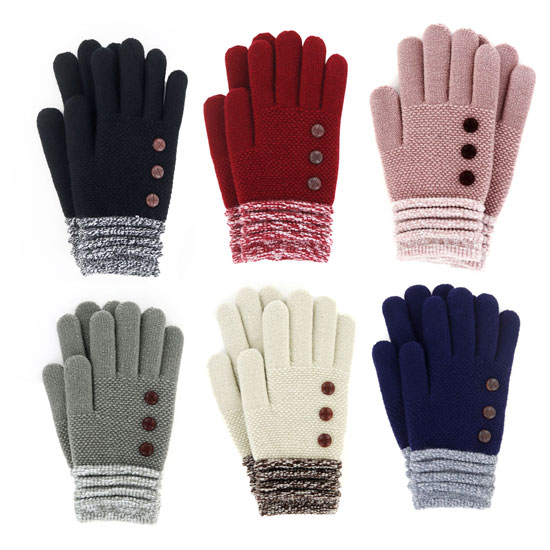 GLOVE ULTRA SOFT STRETCH KNIT ASSORTED COLORS