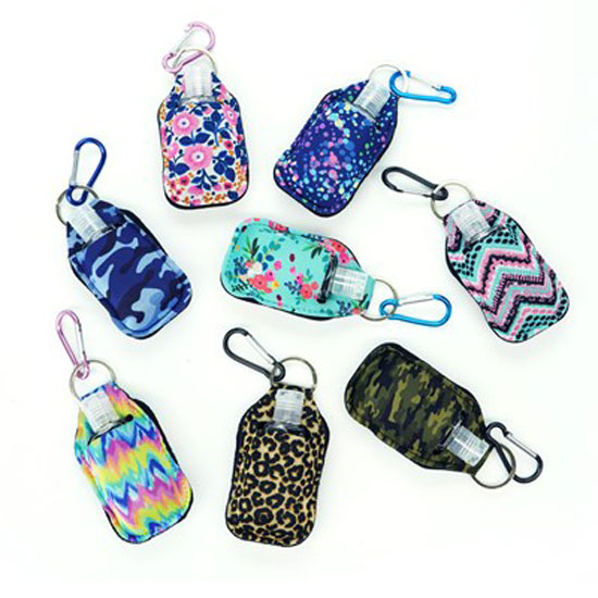 TO GO SANITIZER WITH CLIP CADDY ASSORTED PRINTS WITH 1OZ SANITIZER