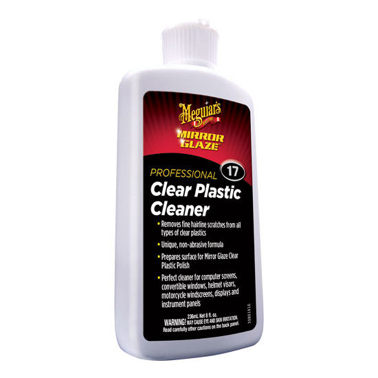 MIRROR GLAZE CLEAR PLASTIC CLEANER  8 OZ