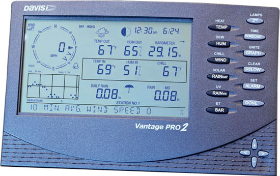 WEATHER MONITOR VANTAGE PRO2 CABLED MODEL