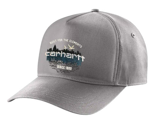 CARHARTT OUTDOOR CANVAS HAT WITH SNAPBACK ASPHALT ONE SIZE
