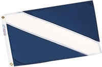 "FLAG GUEST 12""X18"" NYLON BLUE"