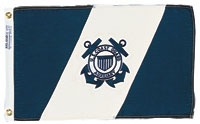 "FLAG USCG AUX ENSIGN #4 12""X18"" NYLON PRINTED"