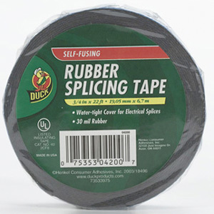 "TAPE RUBBER SPLICING BLACK 3/4"" X 22'"