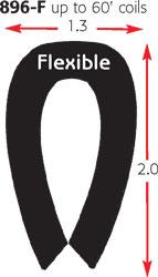 PVC TRIM & EDGING BLACK 60' FLEXIBLE COILS *UPS*