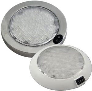 COLUMBO LED DOME LIGHT SER 16 12V WHT HOUSING