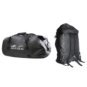 GAGE DUFFEL BAG BACKPACK WATERPROOF BLACK RUBBER ae4c9b55d52