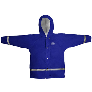JACKET ZENITH JUNIOR HOODED BLUE SIZE 8