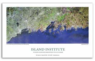 POSTER SATELLITE MAINE COAST ISLAND INSTITUTE