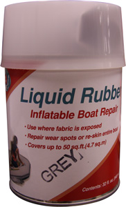 LIQUID RUBBER KIT FOR NEW SKIN F/INFLATABLES QT GRY