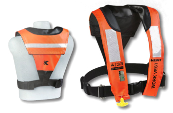 LIFEVEST INFLATABLE A-33 AUTO/MAN USCG WORK VEST