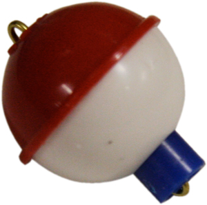 "BOBBER 3/4"" WHITE/RED"