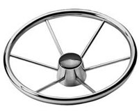 "STEERINGWHEEL 15 1/8 S/S 6 SPOKE 10 DEG 3/4"" TAPER"