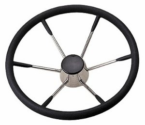 "STEERING WHEEL 15"" SS   5  SPOKE 25 DEG"