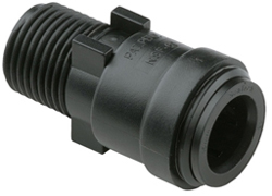 "FITTING 15MM X 1/2"" NPT MALE  PLASTIC"