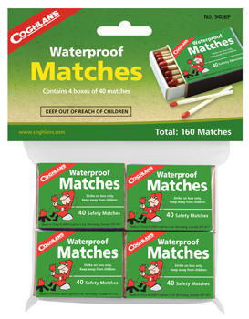 MATCHES WATERPROOF 4 BOXES PER PACKAGE