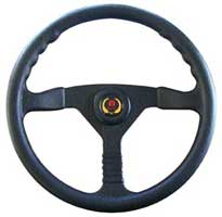 "STEERINGWHEEL 13.5"" CHAMPION BLACK PLASTIC"