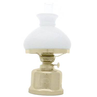 TABLE LAMP DANISH CLASSIC BRUSH S/S WHT VESTA SHADE