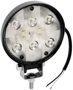 8 LED WORK LIGHT 9-36V MNT STUD BASE 19'12V PLUG