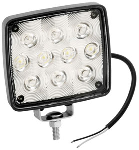 10 LED WORK LIGHT 9-36V MNT STUD BASE 19'12V PLUG